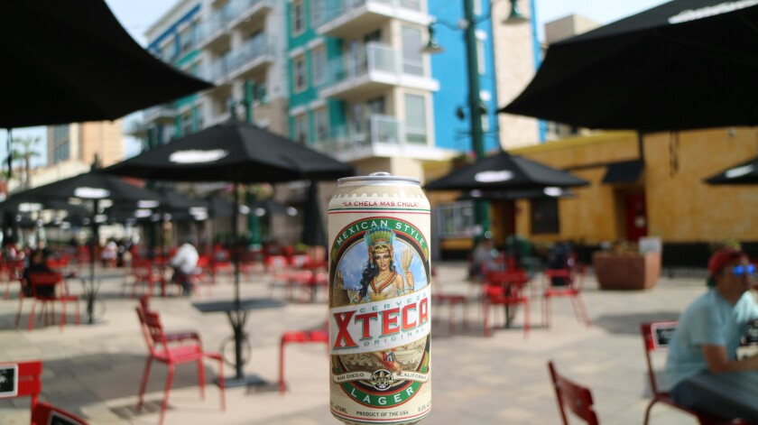Cerveza Xteca's Mexican American Lager.