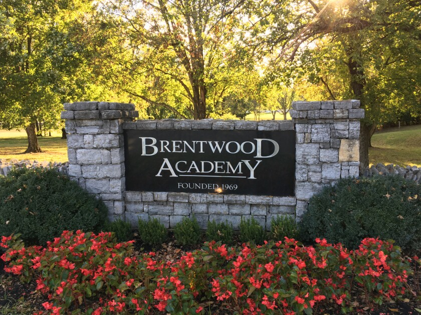 Brentwood Academy in Brentwood, Tenn. on Oct. 22, 2019.