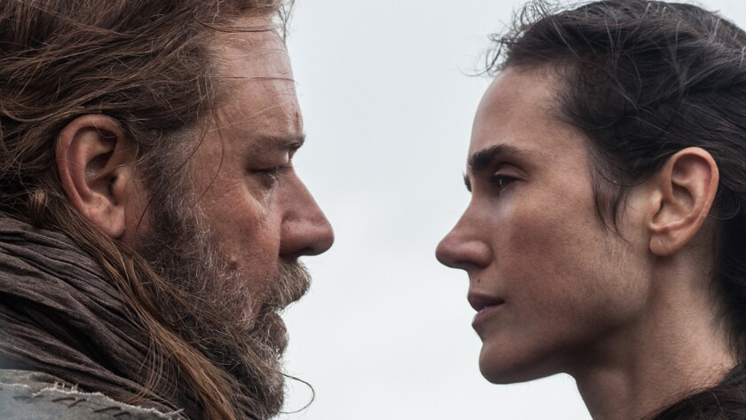 """Russell Crowe and Jennifer Connelly in the movie """"Noah."""""""