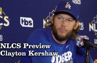 Clayton Kershaw on hoping he doesn't have to pitch again this NLCS