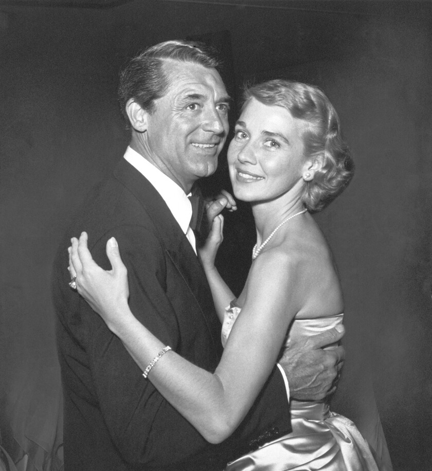 Actor Cary Grant with his third wife, Betsy Drake, in Beverly Hills in 1955. Drake has died at the age of 92.