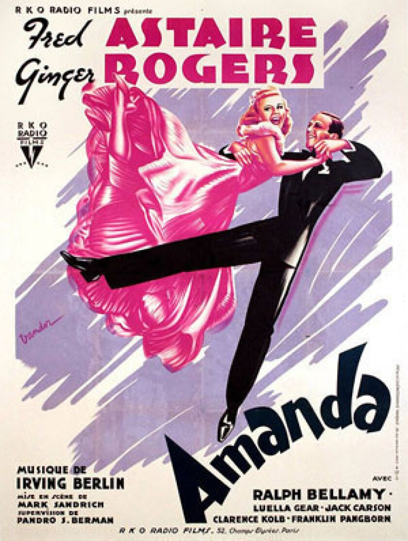 """The French poster of the musical """"Carefree,"""" which was called """"Amanda"""" in France, is one of Kaplan's favorites."""