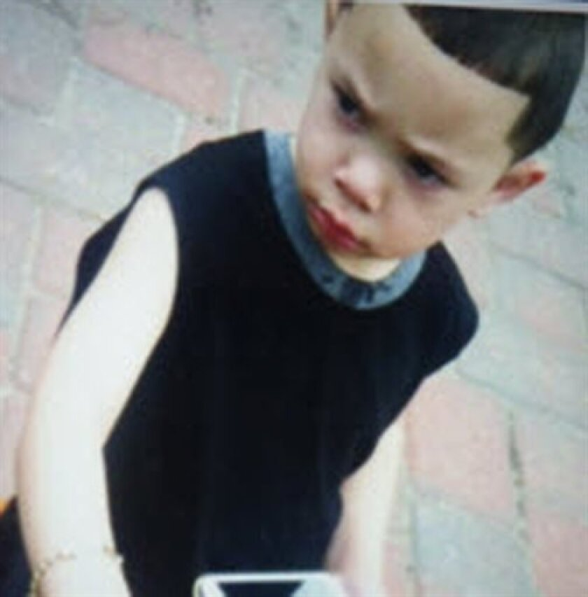 """This undated photo released by the Rhode Island State Police through the Amber Alert website shows two-year-old Isaiah Perez. Two men were arrested in a double homicide and the abduction of Perez from a Rhode Island home, while police continued Sunday Aug. 11, 2013 to search """"any place and every place"""" for the child, local police said. (AP Photo)"""