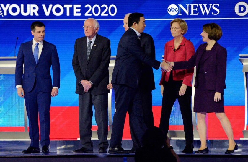 Democratic presidential candidates in Manchester, N.H.
