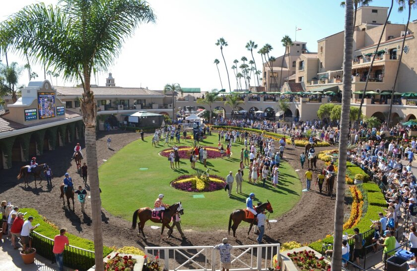 The paddock at Del Mar.