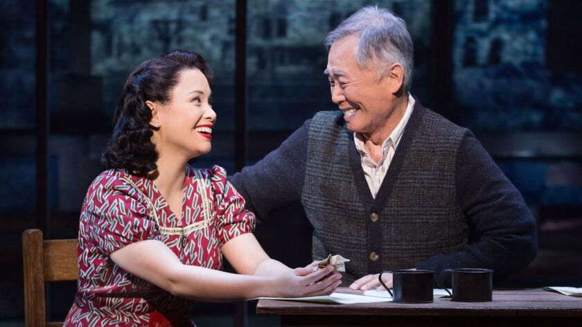 """The Broadway musical """"Allegiance"""" with Lea Salonga and George Takei. A cast has not yet been announced for the L.A. premiere."""