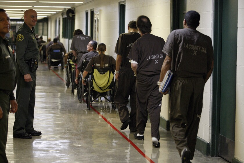 Inside the Men's Central Jail in downtown Los Angeles in August 2012.