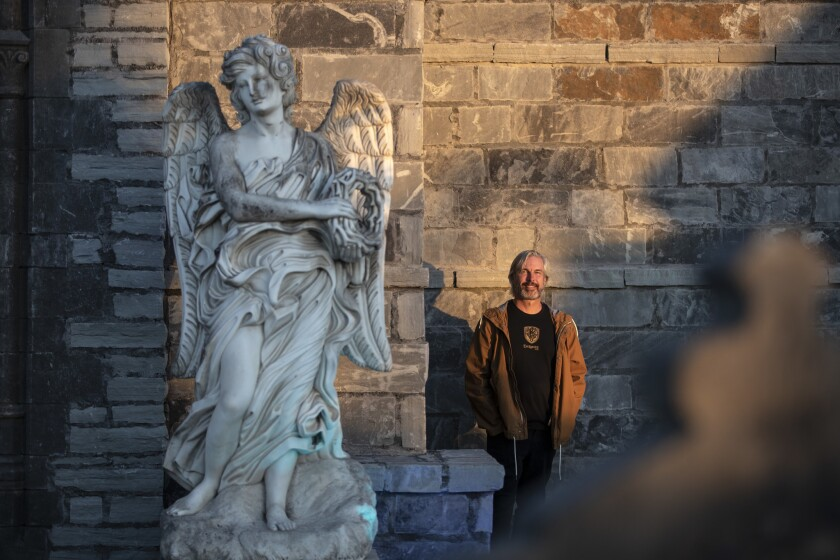 PLEASANT GROVE, UTAH -- SATURDAY, OCTOBER 20, 2018: CEO Ken Bretschneider at Evermore Park in Pleasa