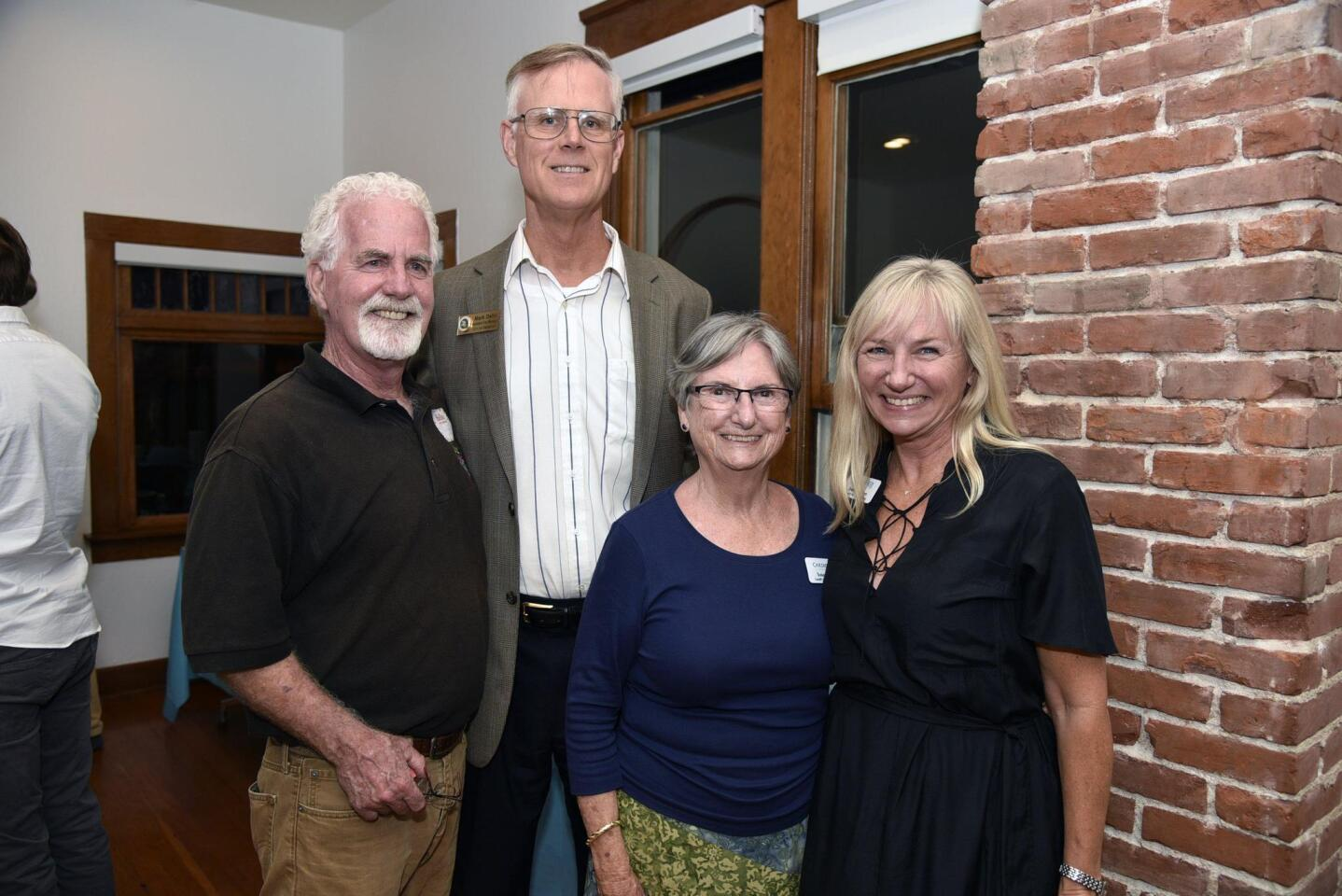 Cardiff 101 board members Morgan Mallory, Susan Hays, Brenda Dizon, and Encinitas Assistant City Manager Mark Delin (second from left)