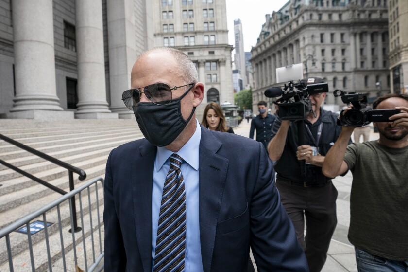 Michael Avenatti arrives for his sentencing at Manhattan federal court on Thursday.