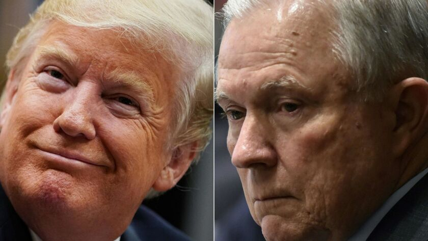 President Trump and Atty. Gen. Jeff Sessions.