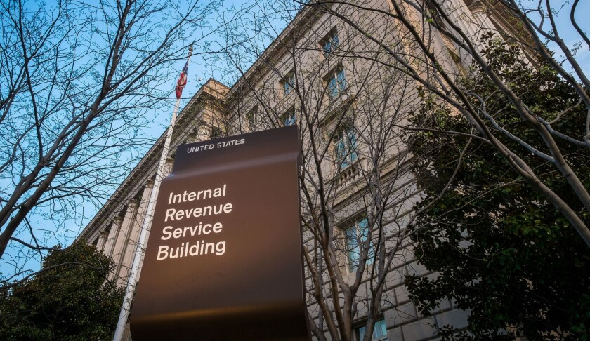 The Internal Revenue Service headquarters in Washington. Tax Day is traditionally April 15, but it was extended to Tuesday.