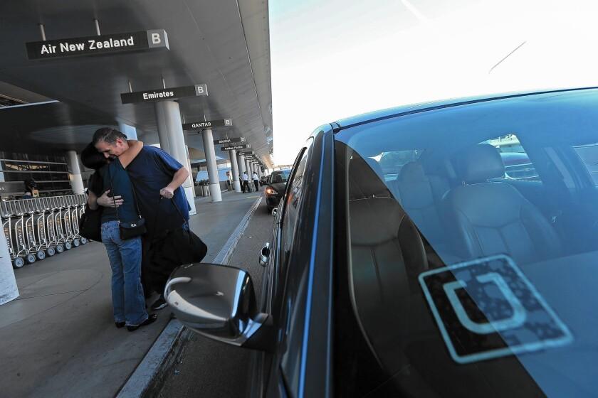 Uber driver drops off passenger at LAX