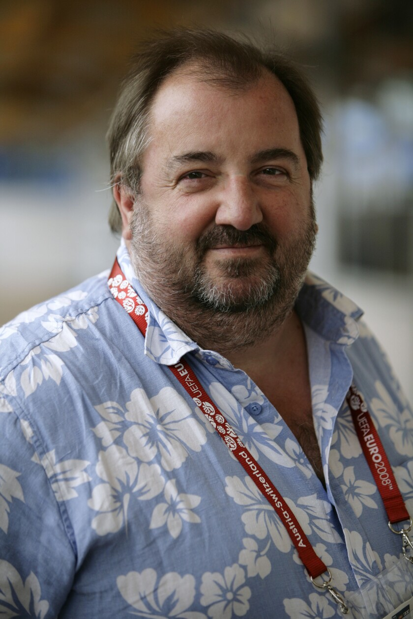 This 2008 file photo shows Simon Haydon, former Associated Press international sports editor. Haydon, who shaped The Associated Press' coverage of World Cups and Olympics as international sports editor and reported on landmark news events while traveling the world as a correspondent, including the downfall of Romanian dictator Nicolae Ceausescu, died early Tuesday, Nov. 24, 2020 in a hospice in southern England, according to his wife Barbara. (AP Photo, File)
