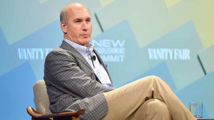 John Stankey, the chief executive of WarnerMedia, speaks at the Vanity Fair New Establishment Summit in Beverly Hills last year.