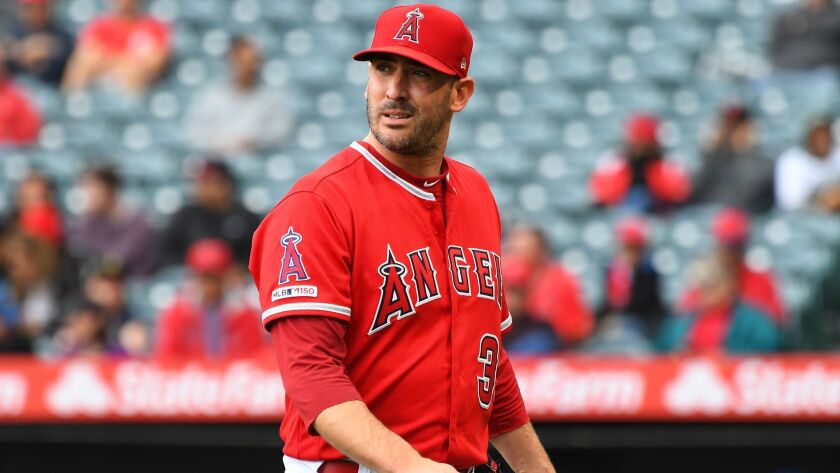 Angels pitcher Matt Harvey gave up six runs and seven hits—two of them homers—in six innings of a 6-2 loss to the Houston Astros.