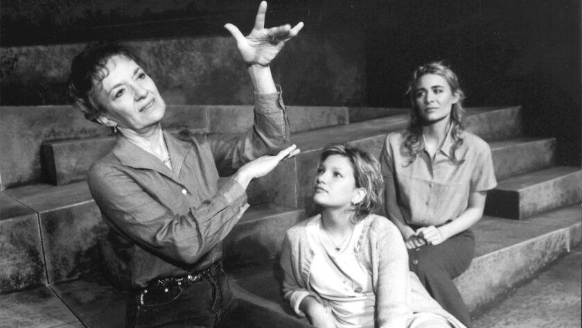 ET.0425.ROAD.HO–– (Left to Right): Phyllis Frelich, Samantha Schwartz, Deanne Bray, in Mark Medoff's