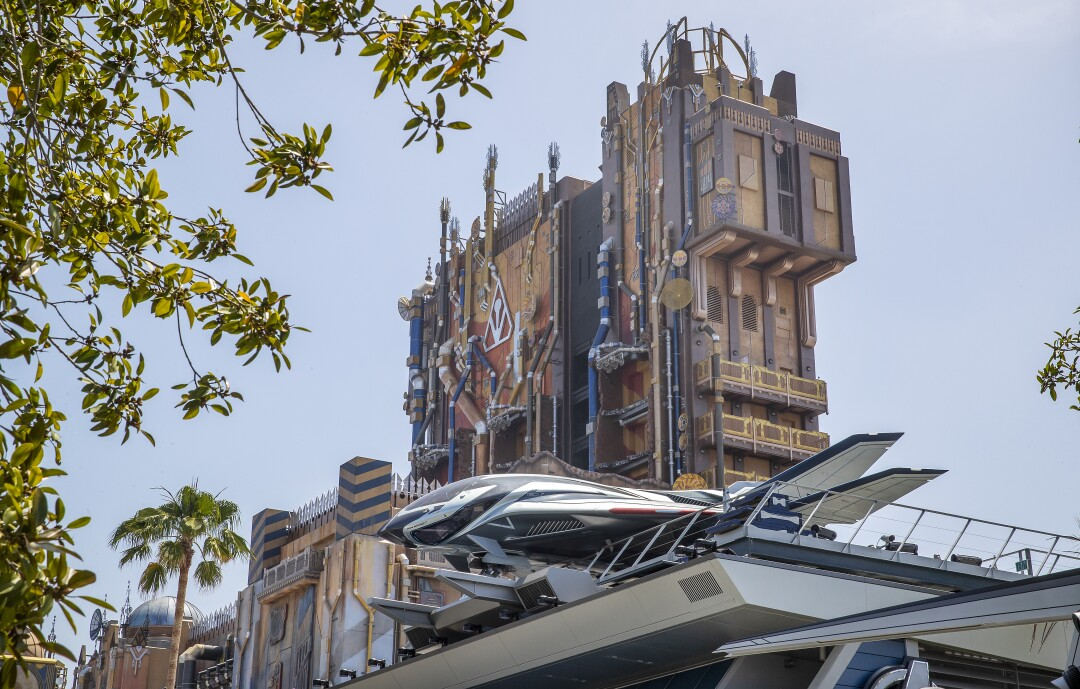 A media preview of the Quinjet resting high atop the Avengers Headquarters building