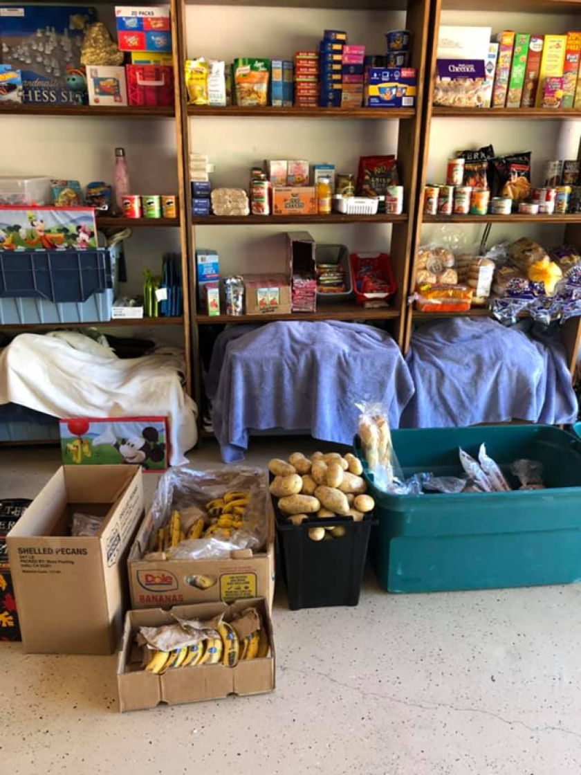 Angel's Food Pantry and Cupboard that was recently shut down by the city of Vista.