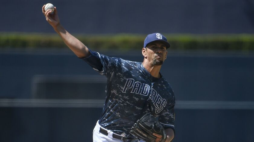 Tyson Ross pitches against the Cincinnati Reds at Petco Park this past Sunday.