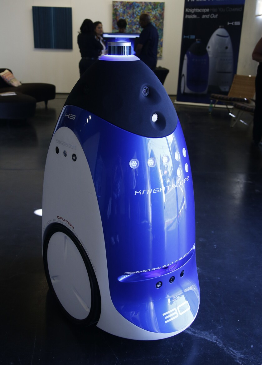Robots are becoming security guards  'Once it gets arms     it'll