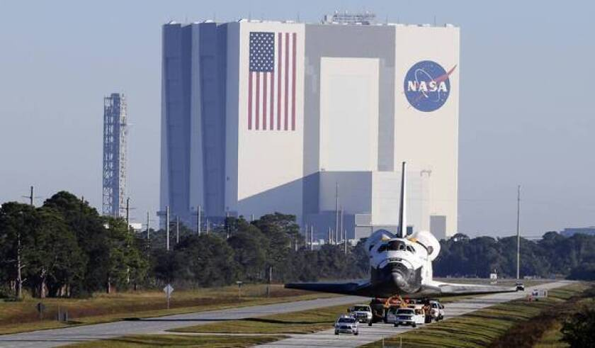 Even parts of the huge Vehicle Assembly Building are up for sale or lease by NASA now that the space shuttle program has ended.