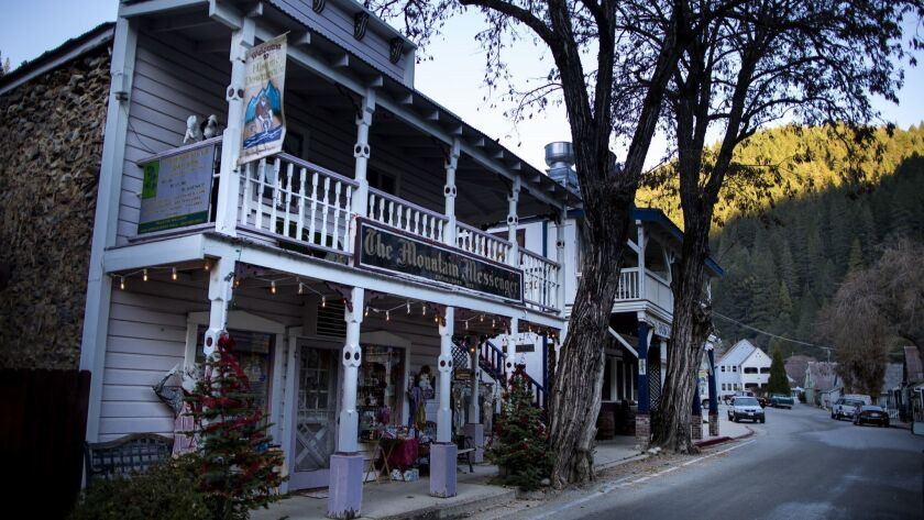DOWNIEVILLE, CALIF. - DECEMBER 13: The Mountain Messenger building, on Thursday, Dec. 13, 2018 in Do