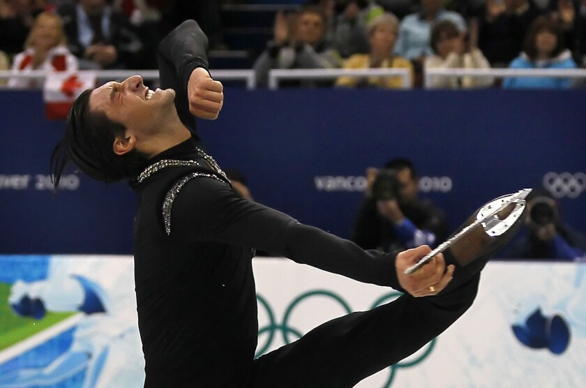 Gold medalist Evan Lysacek, shown during the 2010 Olympics, said he'd prefer to let the USOC comment on Russia's new anti-gay legislation.