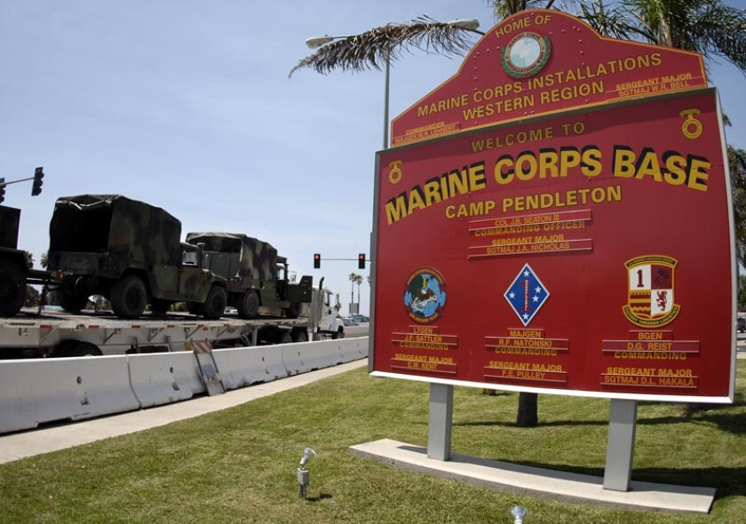 Fifteen Marines were injured Wednesday during a training operation at Camp Pendleton, according to the Marine Corps.