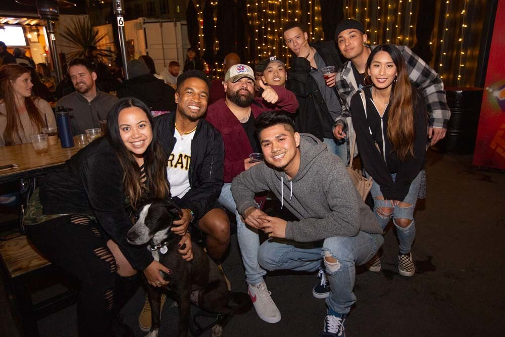The R&B Block Party, with beats by DJ LVL UP and Yo Colombo, drew a crowd at Quartyard in East Village on Saturday, Feb. 23, 2019.