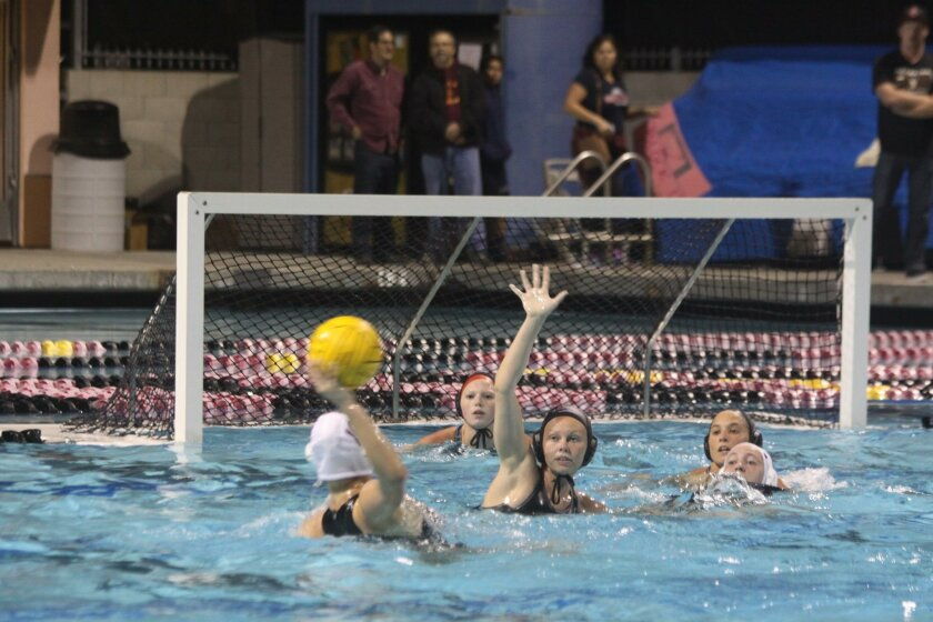 Bishop's star Lily Keck prepares to take a shot against La Jolla's defense.