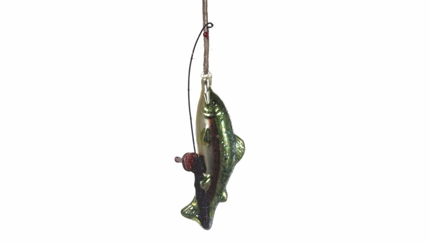 LOS ANGELES, CA., NOVEMBER 17, 2017--Christmas Ornaments for 2017 - FISHING ORNAMENT - It's a little