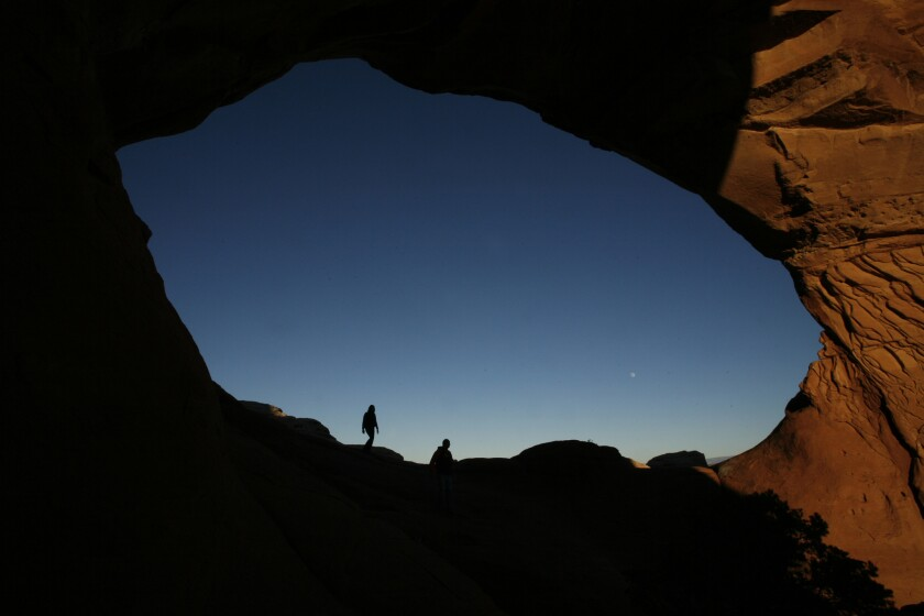 In Utah's Arches National Park, the North Window and its neighbor, South Window, are also known as The Spectacles.