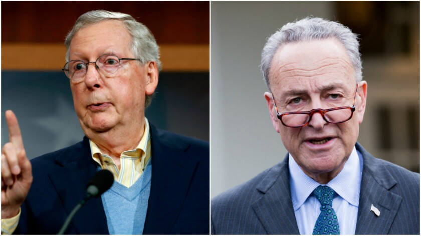 Mcconnell Will Still Lead Senate Gop Schumer New Leader Of Democrats Los Angeles Times