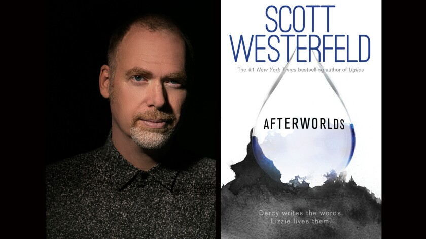 """In author Scott Westerfeld's new book, """"Afterworlds,"""" the protagonist writes a novel at 17 during National Novel Writing Month and gets a two-book contract."""