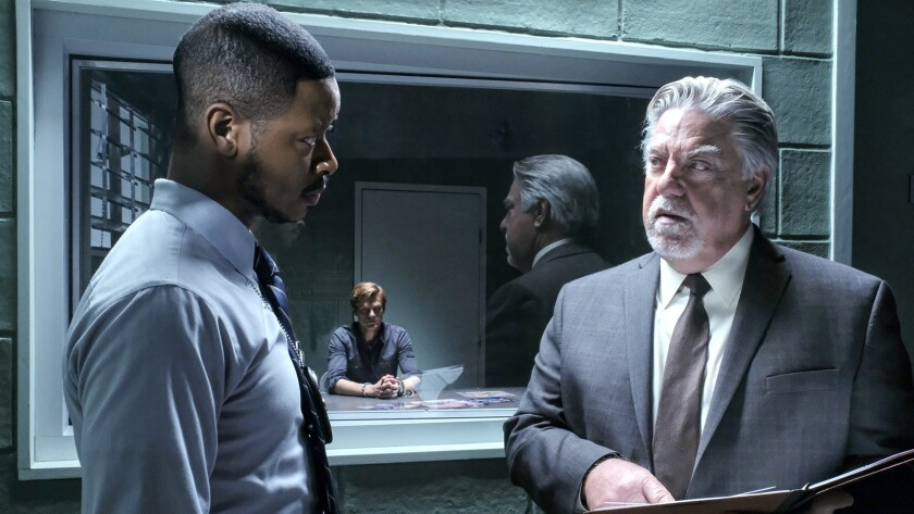 """Arjay Smith, left, Lucas Till and Bruce McGill in """"MacGyver"""" on CBS."""