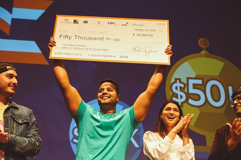 Shiv Shukla, the CEO and founder of Neuralace Medical, took home first place in 2018. He went on to raise several million dollars from investors.