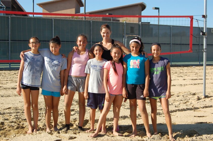 The Pacific Trails volleyball team.