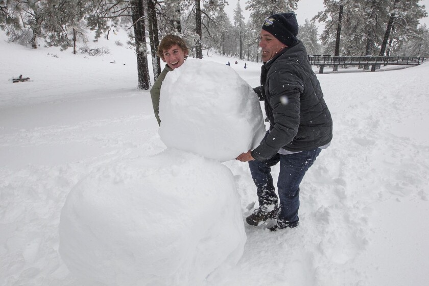 San Diego Mountains Could Get Up To 30 Inches Of Snow Drawing