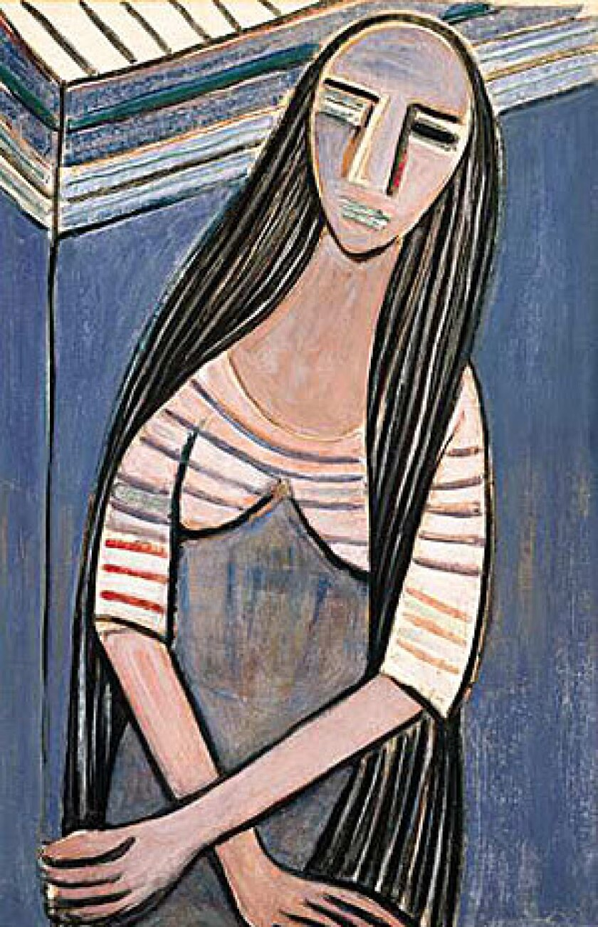 """Wifredo Lam's """"Woman With Long Hair, I"""" dates from 1938."""