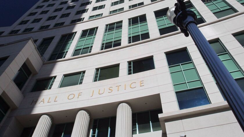 The Hall of Justice in downtown San Diego.