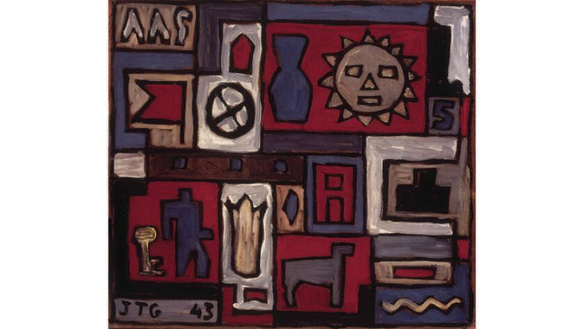 """Composition on Sun"" (1943) by Joaquin Torres-Garcia"
