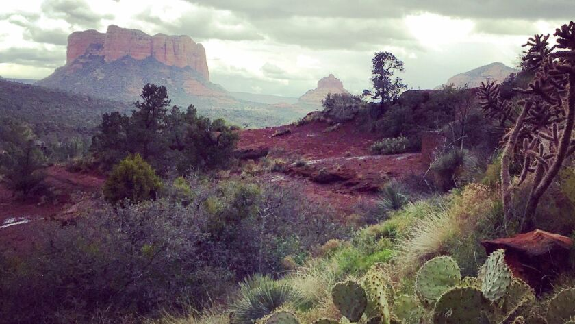She found rain and hail instead of sun in Sedona's red-rock country — and snapped this remarkable photo