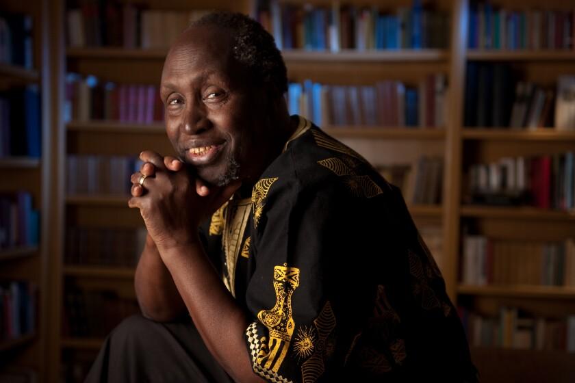 """Kenyan author Ngugi wa Thiong'o, whose latest novel is """"The Perfect Nine."""""""