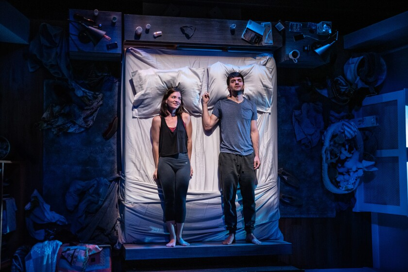 Review: Pillow talk gets graphic — really graphic — in Deaf West Theatre's 'Sugar Water'