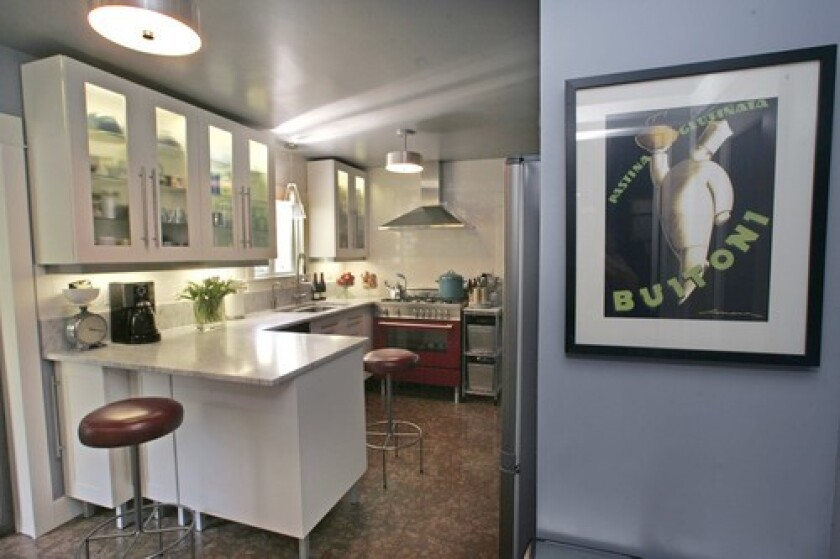 """STARTING OVER: Angelo Surmelis gutted his kitchen to create a """"nice place to be."""""""