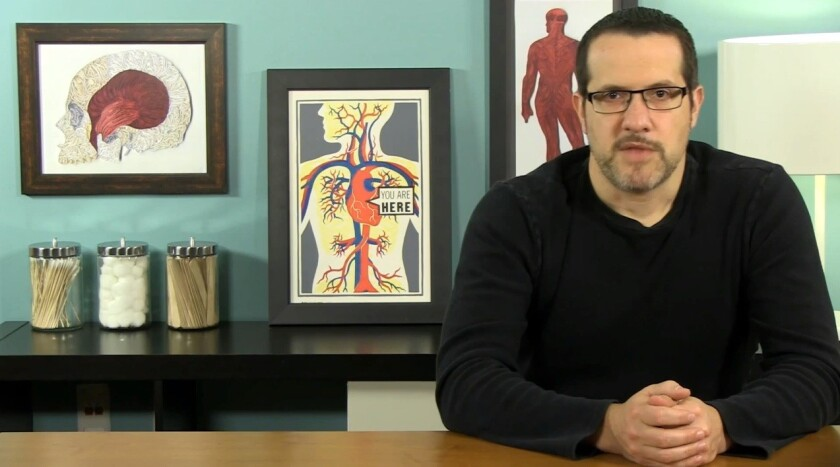 Dr. Carroll explains it all for you: A screen shot from Aaron Carroll's video debunking the MMR-autism link.
