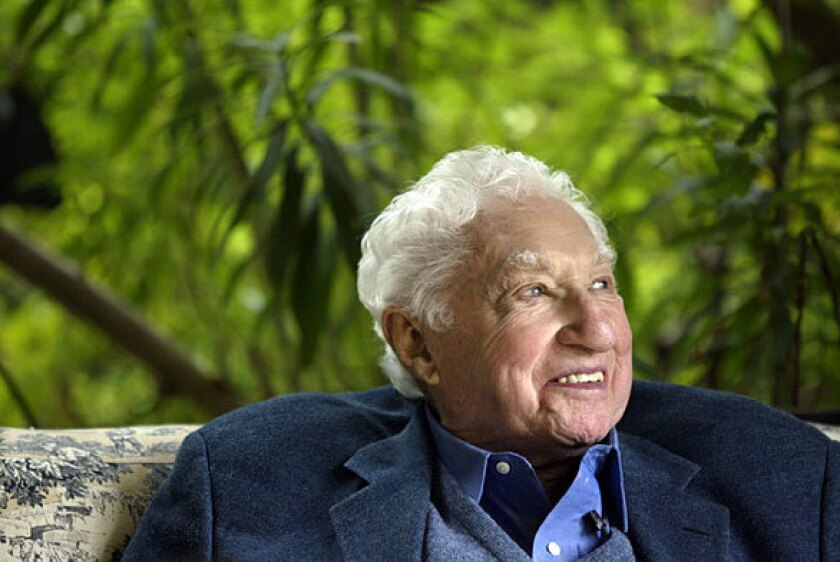 """Budd Schulberg in 2005. His greatest success came with """"On the Waterfront."""" His screenwriting Oscar was one of eight Academy Awards the 1954 film won — including nods for picture, director (Elia Kazan), supporting actress (Eva Marie Saint) and actor (Marlon Brando)."""