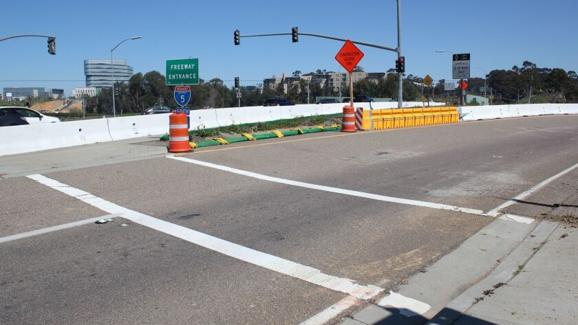 La Jolla Village Drive and I-5 South off-ramp