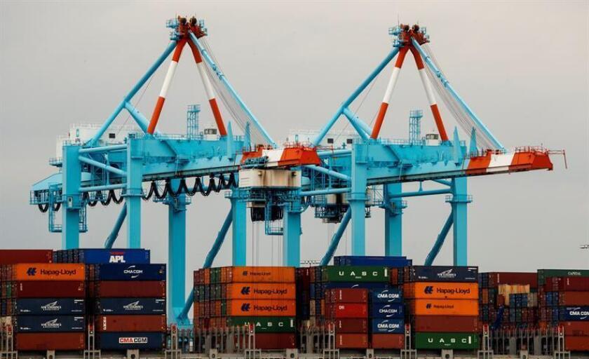 Vista del puerto de Newark, uno de los más grandes de Estados Unidos, en Elizabeth, Nueva Jersey, Estados Unidos: EFE/Archivo